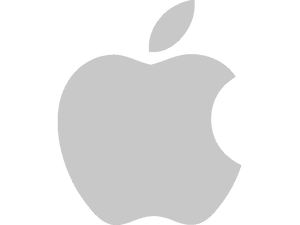 Apple Logo Grey Trasnp